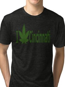 0146 I Love Cincinnati  Tri-blend T-Shirt