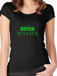 The Bayer Matrix (Green Only) Women's Fitted Scoop T-Shirt