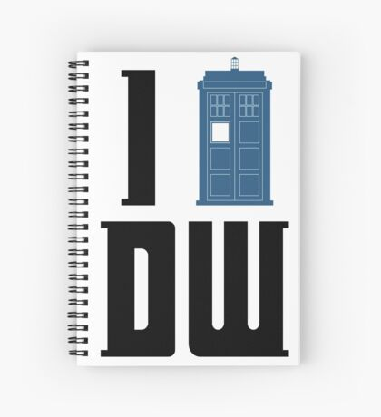 I Tardis Doctor Who Spiral Notebook