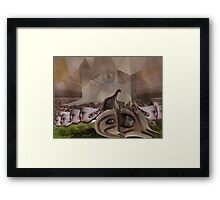 No escape from the global corporate mind  Framed Print