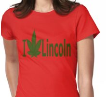 0152 I Love Lincoln Womens Fitted T-Shirt