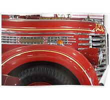 Antique Fire Truck Poster