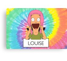 Louise Tie-Dye Canvas Print