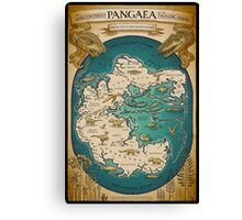 map of the supercontinent Pangaea Canvas Print
