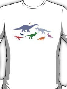 Colorful Dinosaurs Pattern (Light) T-Shirt