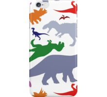 Colorful Dinosaurs Pattern (Light) iPhone Case/Skin