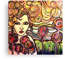 Rainbow Girl Canvas Print