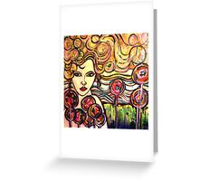 Rainbow Girl Greeting Card