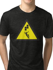 Look Out! Tetris! Tri-blend T-Shirt