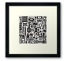 Wood Type Collage Framed Print