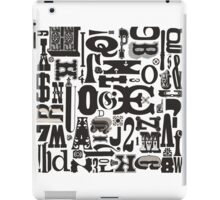 Wood Type Collage iPad Case/Skin
