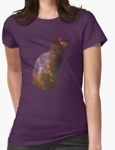 Kitten Space Womens Fitted T-Shirt