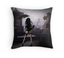 Night Queen Throw Pillow