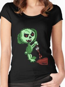 Demon Easter Bunny Women's Fitted Scoop T-Shirt