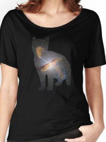 Cat Space Women's Relaxed Fit T-Shirt