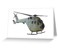 Helicopter Indian Air Force Naive Painting Greeting Card