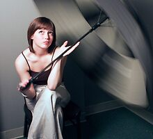 True Umbrella Twirler by Lisa Humes