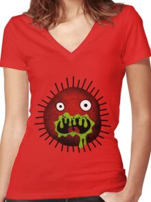 Crazy Germ Women's Fitted V-Neck T-Shirt