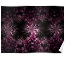 Mobius Flowers in Pink Poster