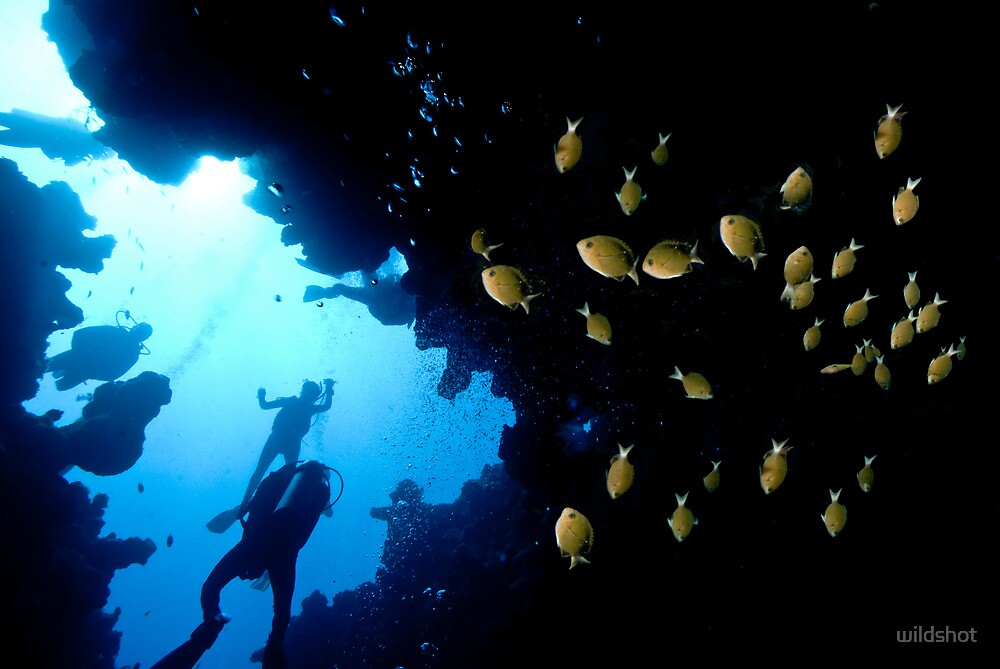 Red Sea Cave by wildshot
