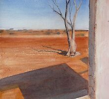 window view - watercolour by Kay Cunningham