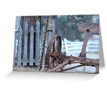 Old Time Cutter Two Greeting Card