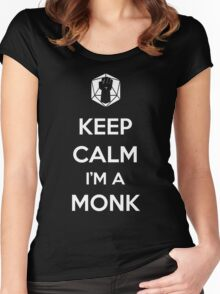 Keep Calm I'm a Monk Women's Fitted Scoop T-Shirt