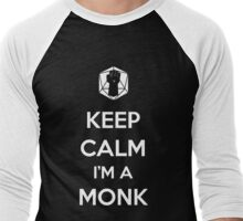 Keep Calm I'm a Monk Men's Baseball ¾ T-Shirt