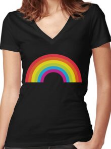 Simple Rainbow Women's Fitted V-Neck T-Shirt