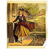 Aunt Louisa's Nursery Favorite by Laura Valentine art Kate Greenaway 1870 0095 Walking Clothes Poster