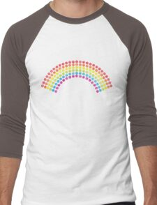 Vintage Dotted Rainbow Men's Baseball ¾ T-Shirt