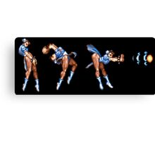 Chun Li Fireball Horizontal Canvas Print