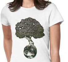 Nature Preserves all of Life Womens Fitted T-Shirt