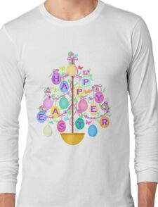Easter Egg Tree T-Shirt Long Sleeve T-Shirt