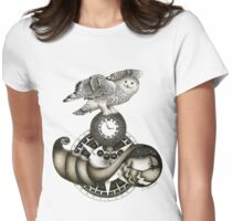 Sailing Through Time Womens Fitted T-Shirt