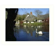 Constable Waters, Flatford, Suffolk Art Print
