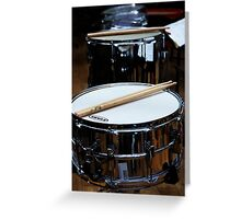 Snare Drums Greeting Card