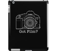 Canon EOS 1v 'Got Film?' T Shirt iPad Case/Skin