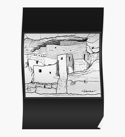 Arizona Cliff Dwelling Poster