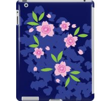 Pink Cherry Blossoms on Blue iPad Case/Skin