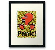 Panic Framed Print