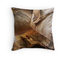 Eroded Rock Throw Pillow