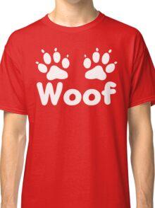 Woof Dog Paws (Dark) Classic T-Shirt