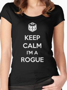 Keep Calm I'm a Rogue Women's Fitted Scoop T-Shirt