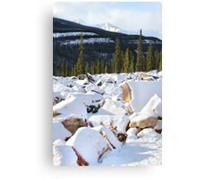 Autumn in The Rockies: The First Snow: Jasper National Park Canvas Print