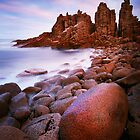 Low tide at the Pinnacles - Cape Woolamai by Mark Shean