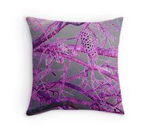 Neon Purple Banksia Throw Pillow