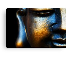 BLUE AND GOLD BUDDHA Canvas Print