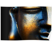 BLUE AND GOLD BUDDHA Poster