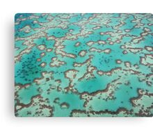 Great Barrier Reef from the air Metal Print